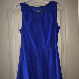 Royal blue Express fit and flare dress